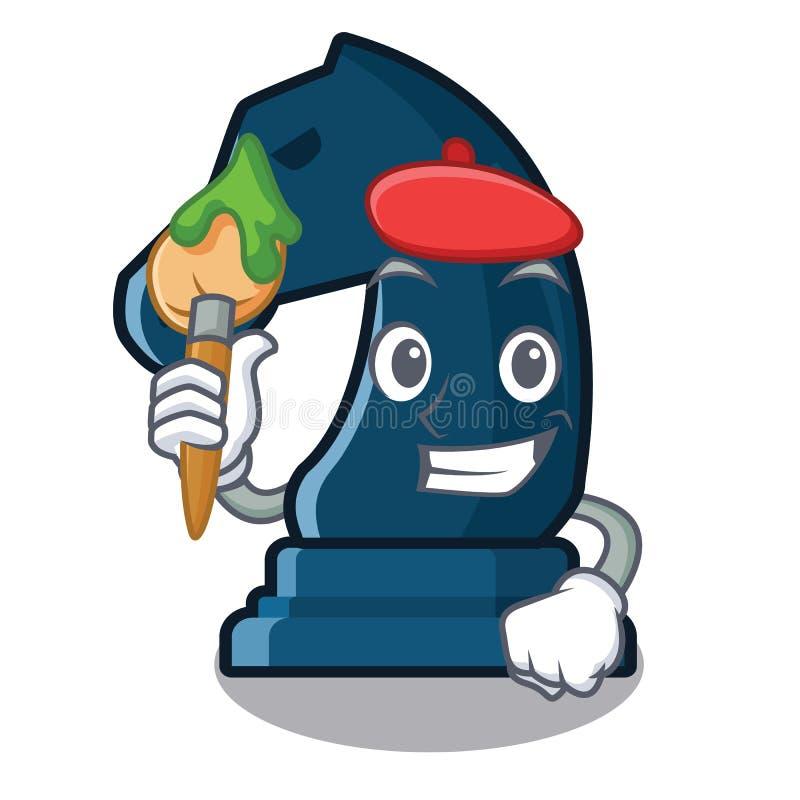 Cavaliere di scacchi dell'artista nella forma della mascotte royalty illustrazione gratis