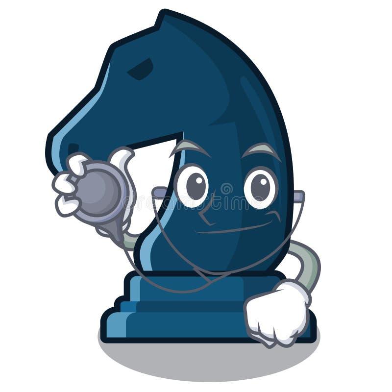 Cavaliere di scacchi di medico nella forma della mascotte royalty illustrazione gratis