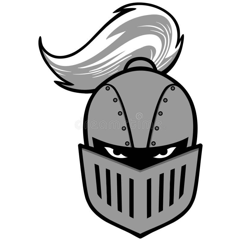 Cavaliere Mascot Illustration illustrazione di stock