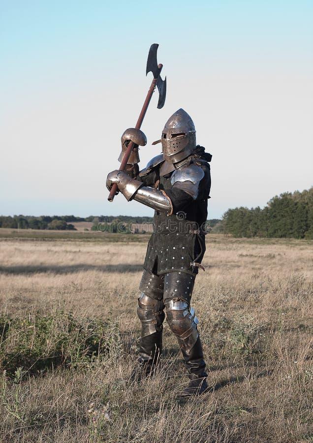 Cavaliere medioevale fotografia stock libera da diritti
