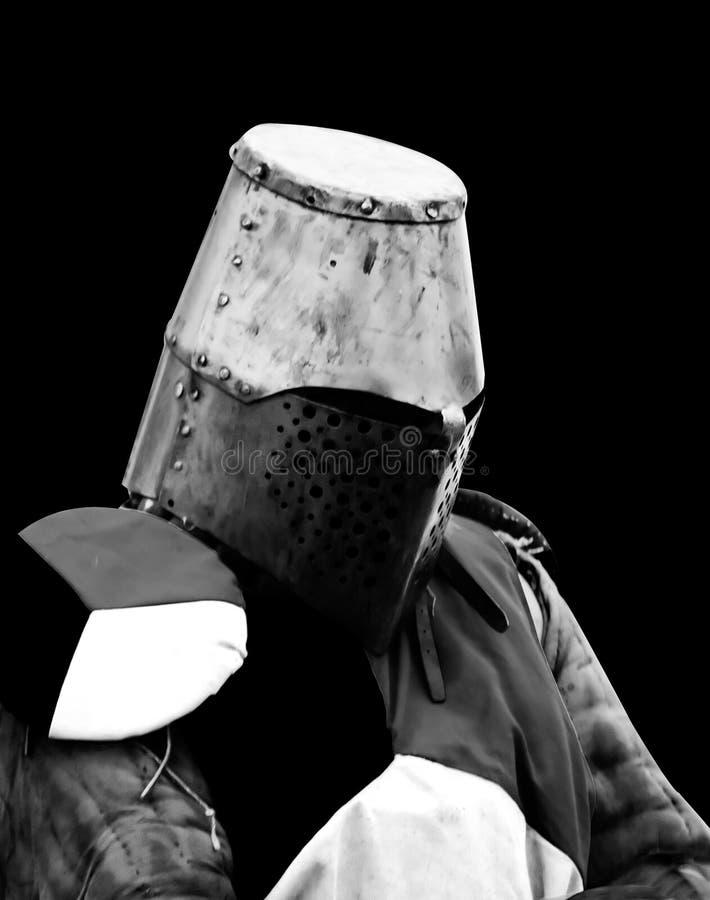 Cavaliere medioevale in armatura fotografia stock libera da diritti