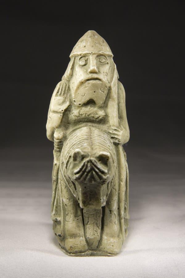 Cavaliere (pezzo degli scacchi antico) immagini stock