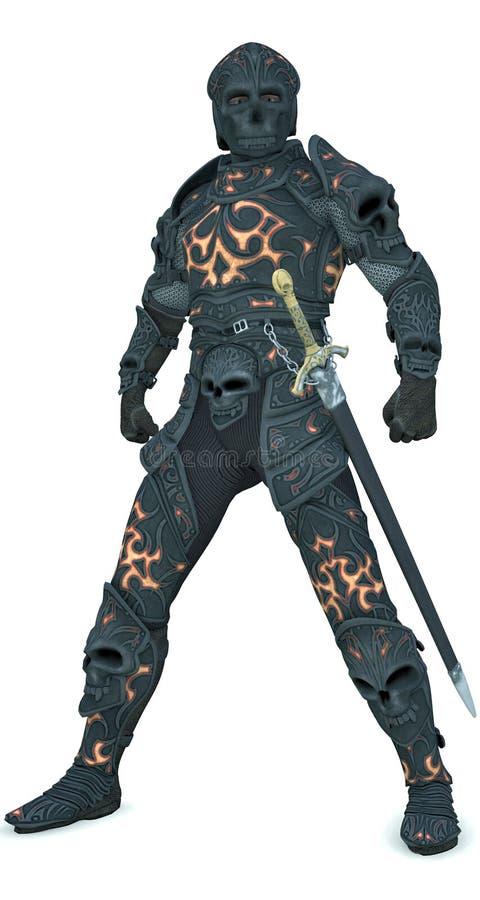 Cavaliere scuro - ragazzo cattivo diabolico? illustrazione vettoriale
