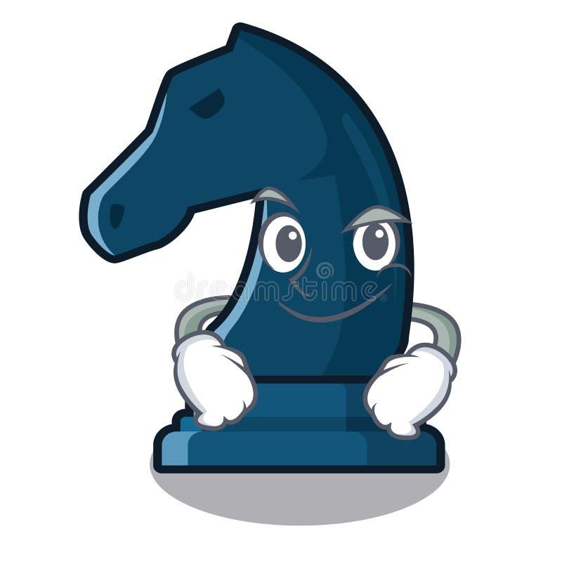 Cavaliere Smirking di scacchi accanto alla tavola del fumetto royalty illustrazione gratis