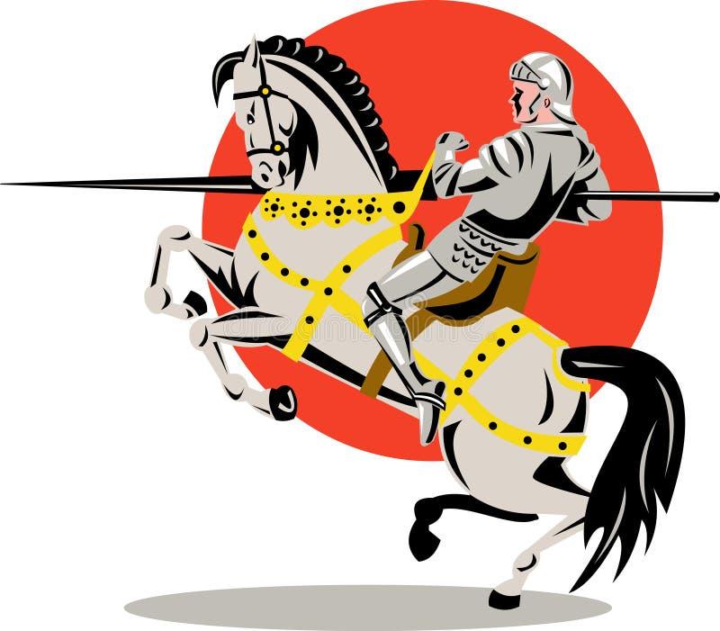 Cavaliere a cavallo fotografia stock
