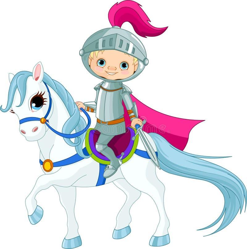 Cavaliere sul cavallo illustrazione di stock