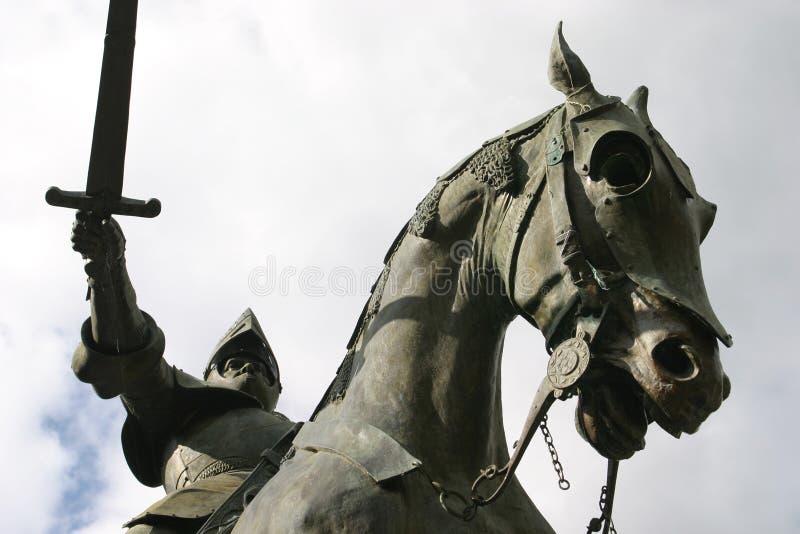 Cavaliere sul suo cavallo - in Francia fotografia stock libera da diritti