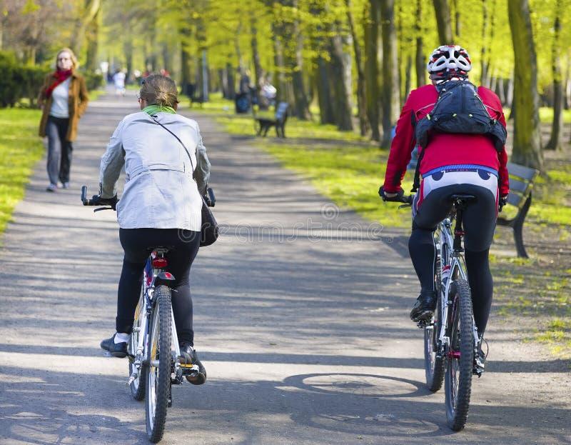 Cavalieri della bici immagini stock