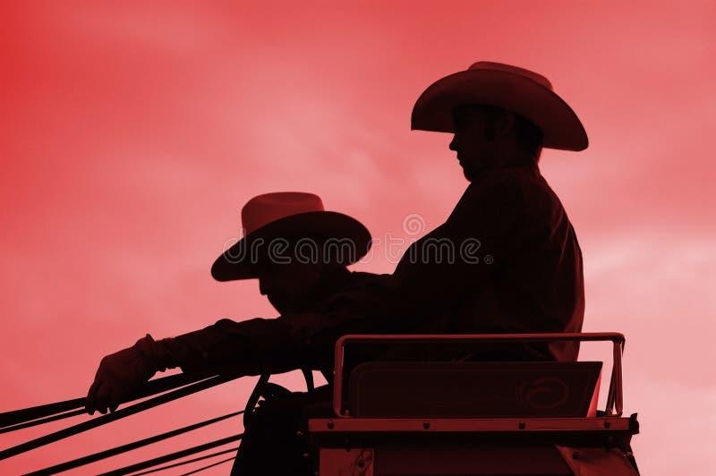 Cavalieri dello Stagecoach fotografia stock libera da diritti