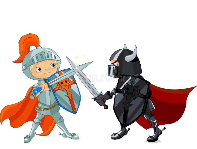 Cavalieri di combattimento illustrazione di stock