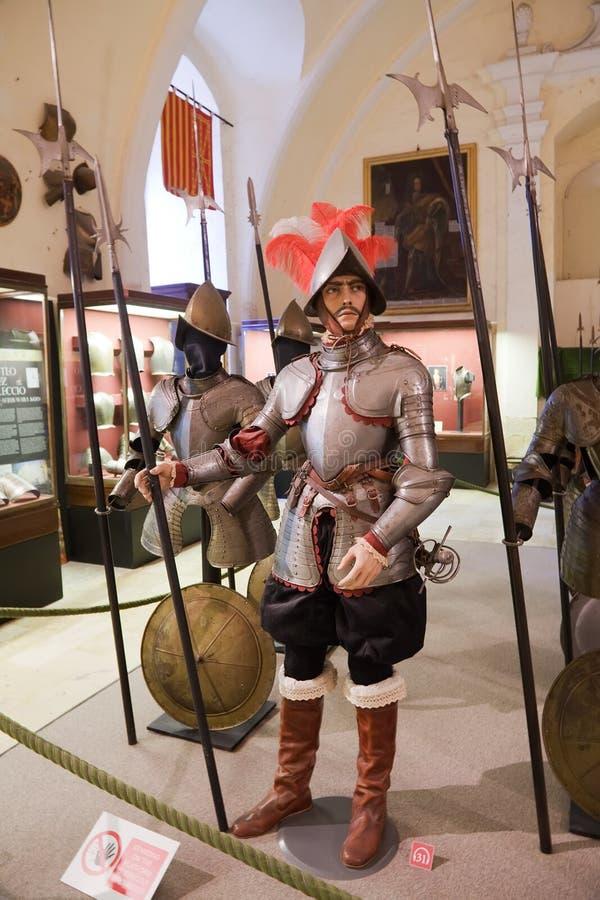 Cavalieri medioevali in armature fotografia stock libera da diritti