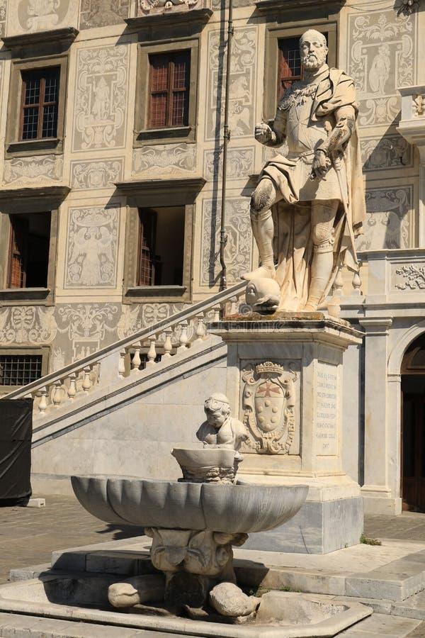Statue of Cosimo I de` Medicia. Cavalieri Square, Pisa royalty free stock images