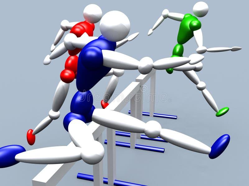 Cavaliers d'obstacle illustration libre de droits