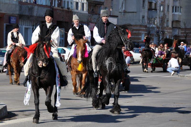 Cavaliers Orientaux De Village Image éditorial