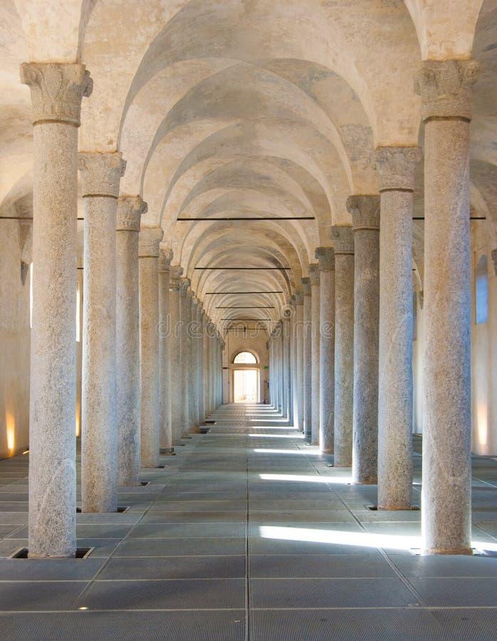 Cavallerizza del castillo de Sforzesco de Vigevano imágenes de archivo libres de regalías