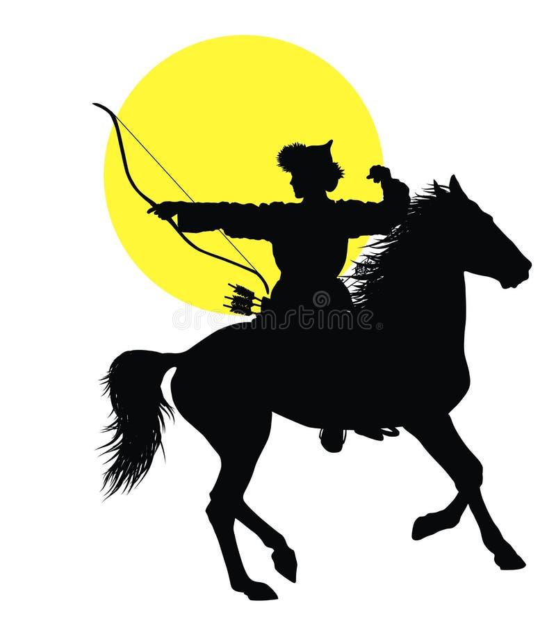 Cavallerizzo orientale royalty illustrazione gratis