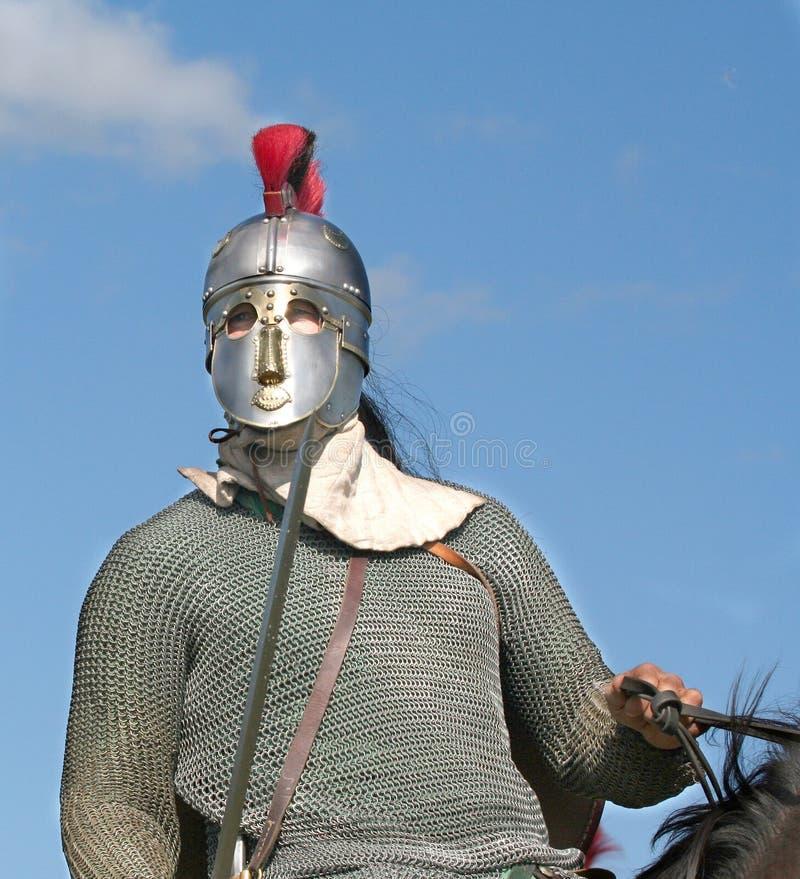Cavallerizzo romano fotografia stock libera da diritti