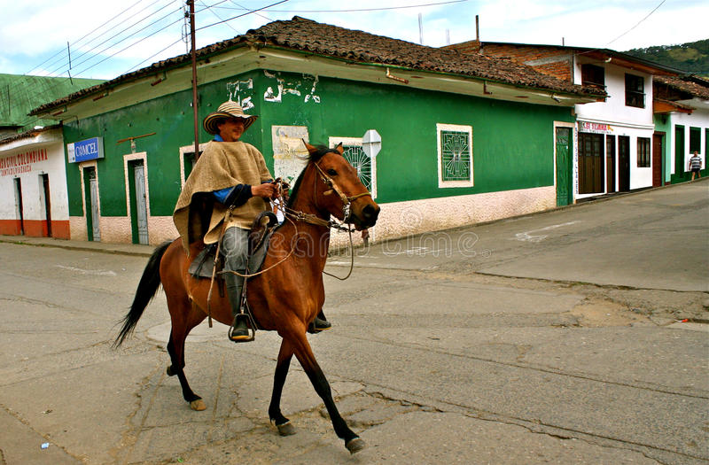 Cavallerizzo, Silvia, Colombia fotografia stock libera da diritti