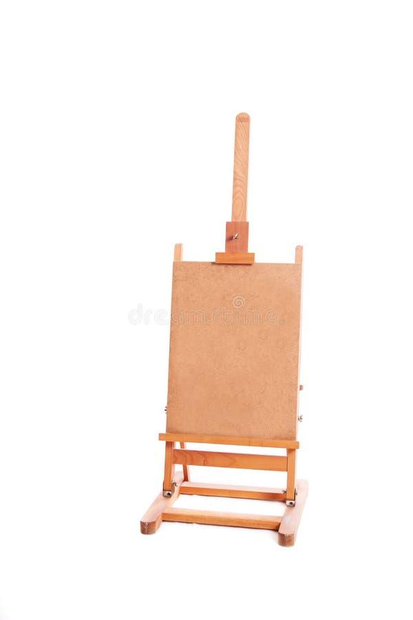 Cavalletto di legno di verniciatura del supporto fotografie stock libere da diritti