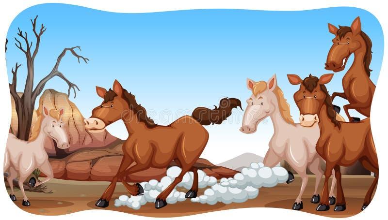 Download Cavalli illustrazione vettoriale. Illustrazione di funzionamento - 55365445