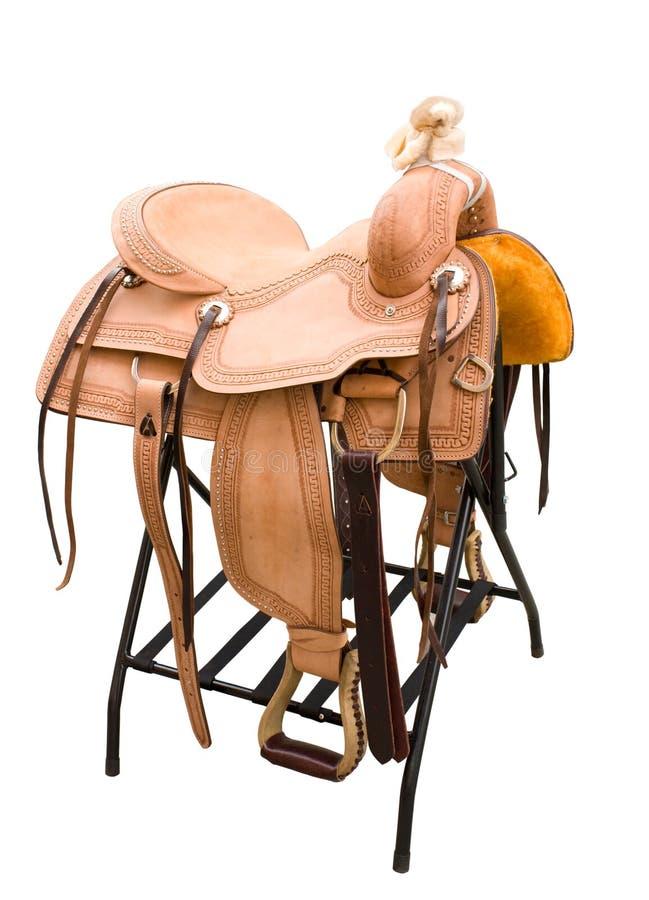 Cavalli da sella di cuoio immagine stock