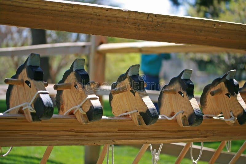 Cavalli di legno fotografia stock