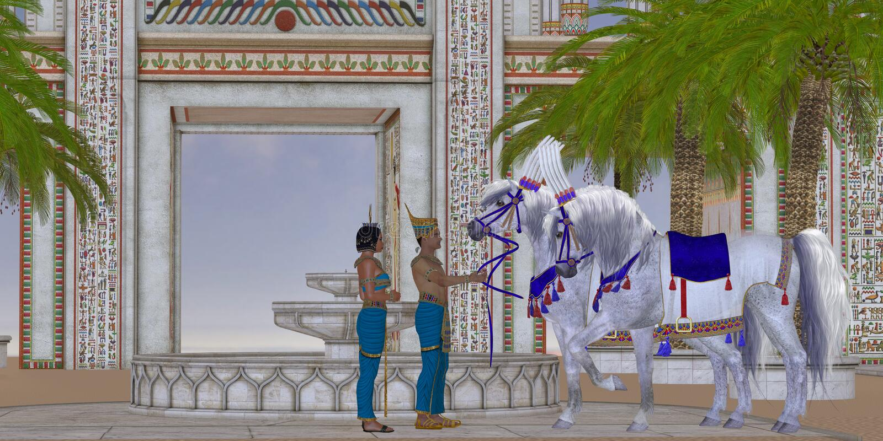 Cavalli egiziani illustrazione vettoriale