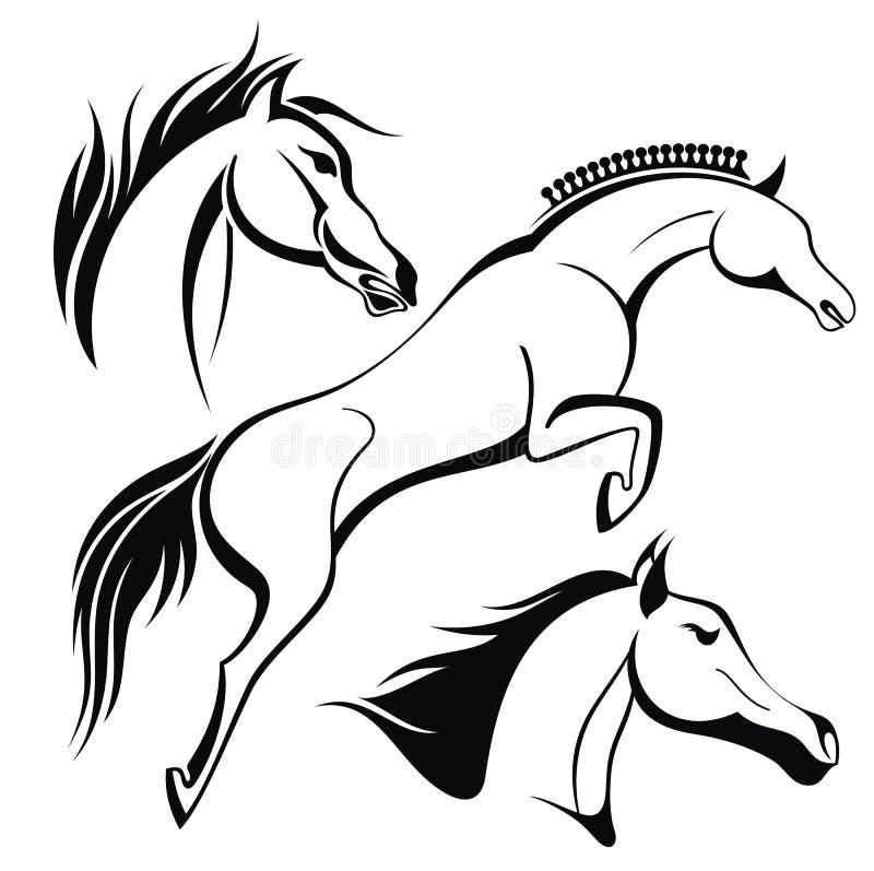 Cavallo 2014 illustrazione vettoriale illustrazione di for Immagini cavalli stilizzati