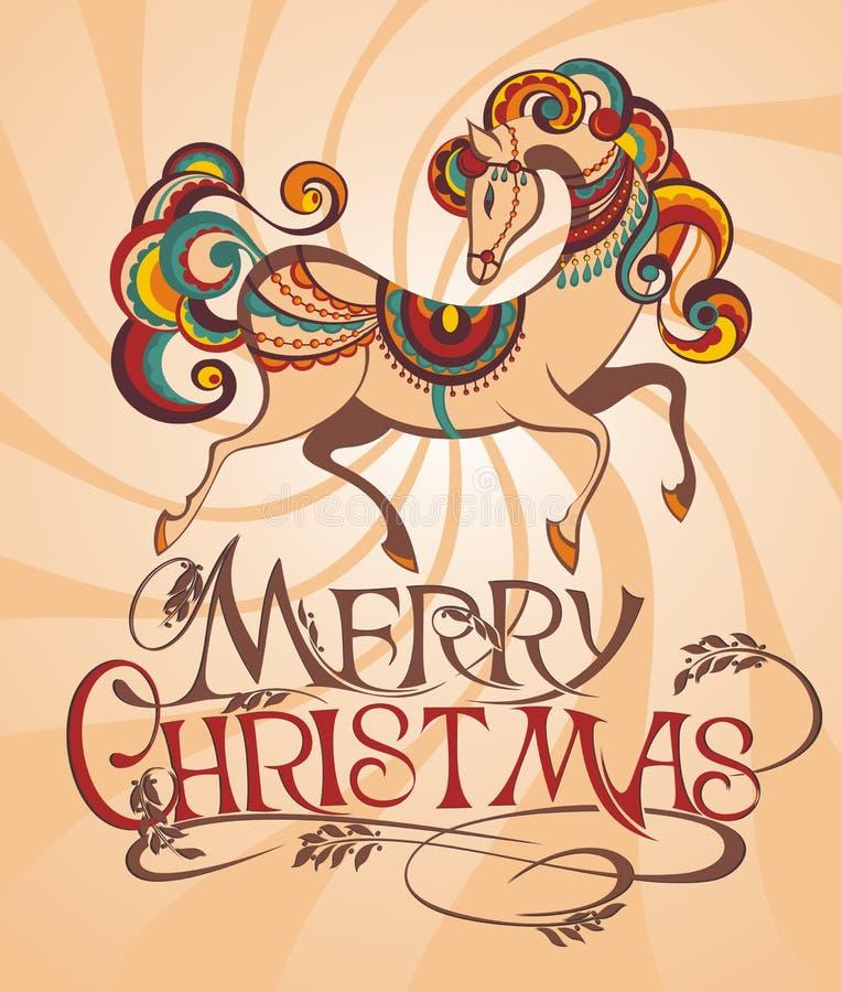 Cavallo 2014 royalty illustrazione gratis