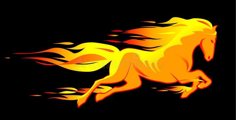 Cavallo ardente illustrazione vettoriale