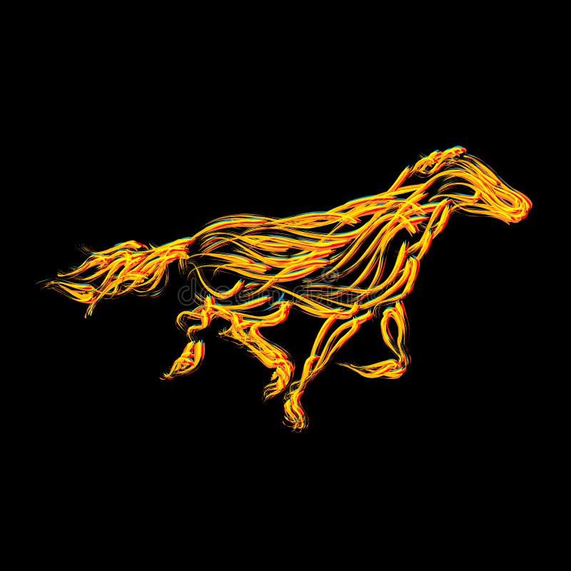 Cavallo ardente illustrazione di stock