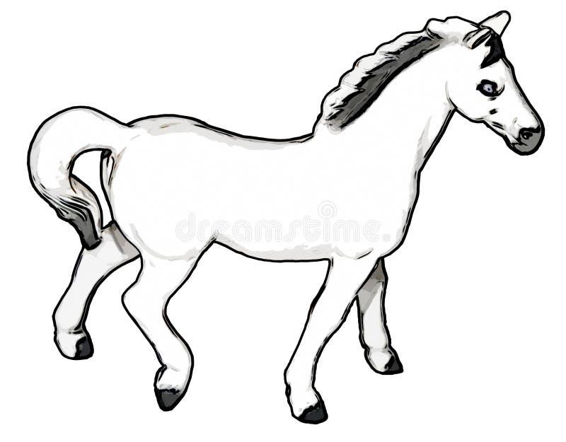 Cavallo bianco illustrazione di stock
