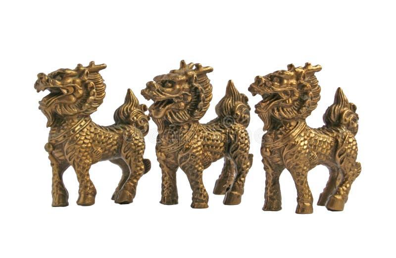Cavallo cinese Mythical del drago fotografia stock libera da diritti