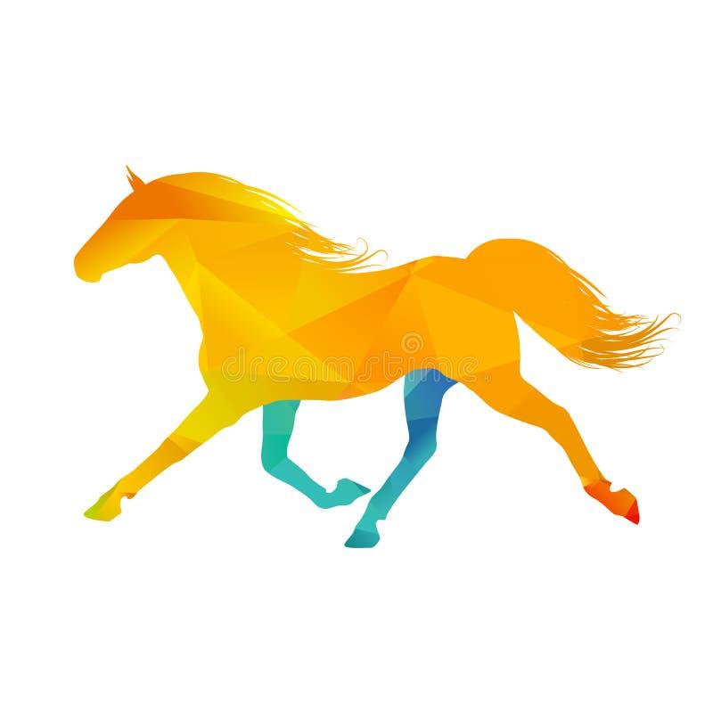 Download Cavallo corrente illustrazione vettoriale. Illustrazione di wildlife - 56887183