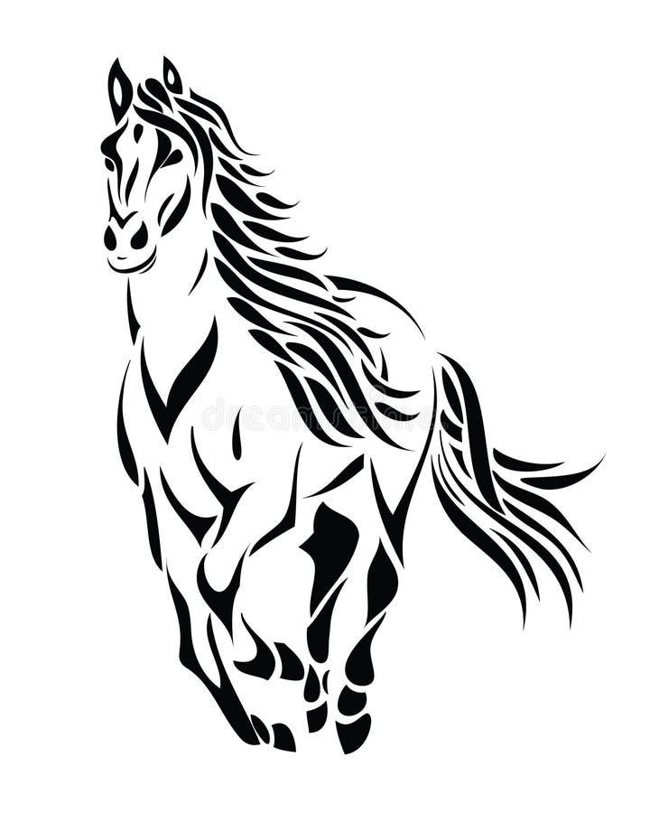 Cavallo corrente tribale royalty illustrazione gratis