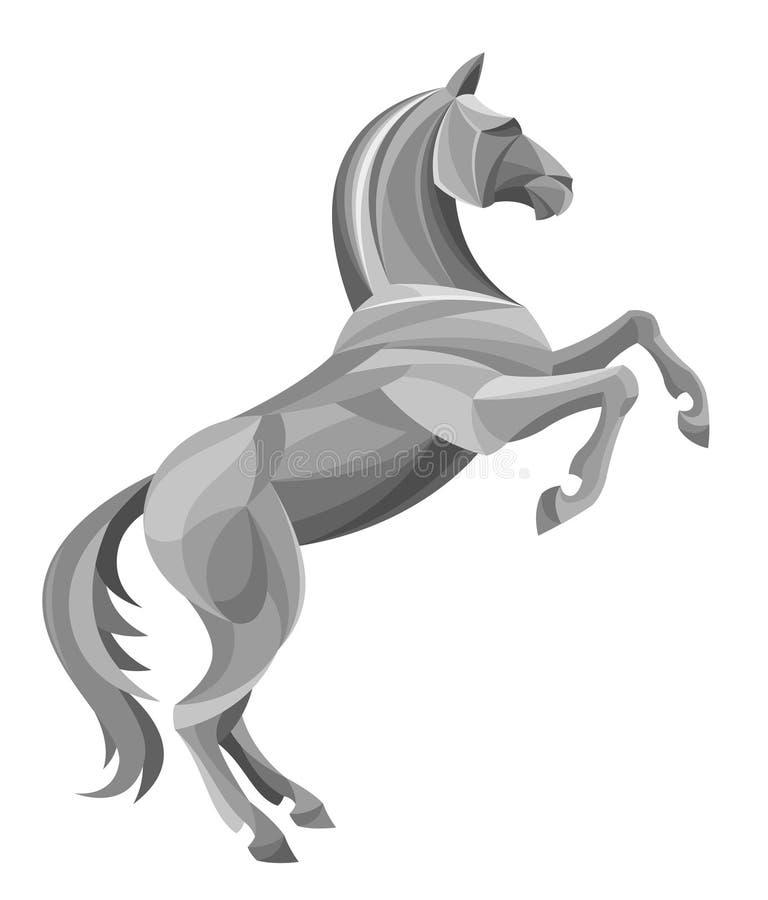 Cavallo d'argento illustrazione di stock