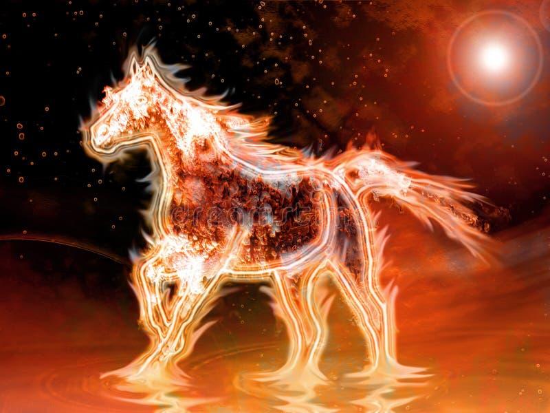 Cavallo del fuoco illustrazione vettoriale