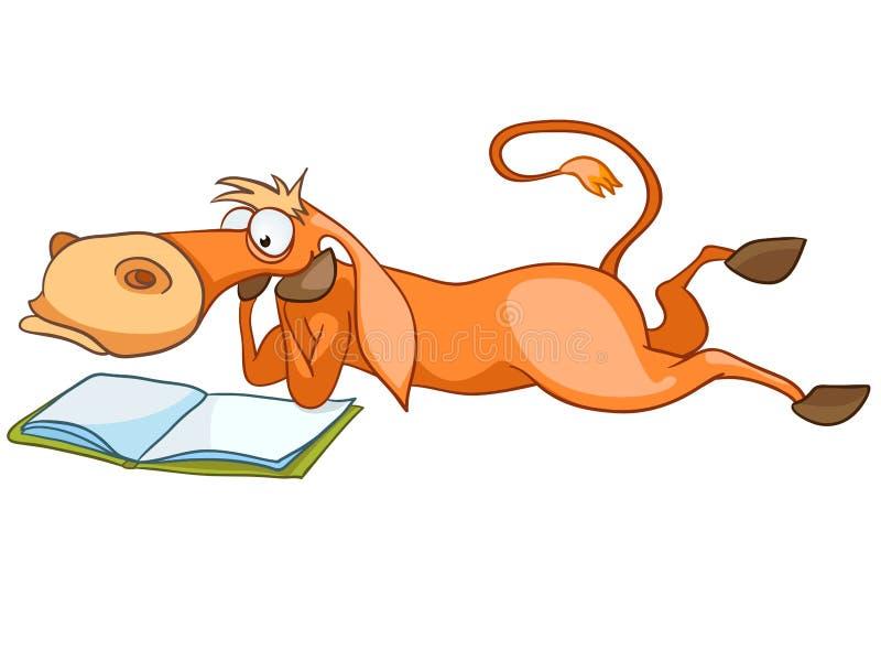 Cavallo del personaggio dei cartoni animati illustrazione