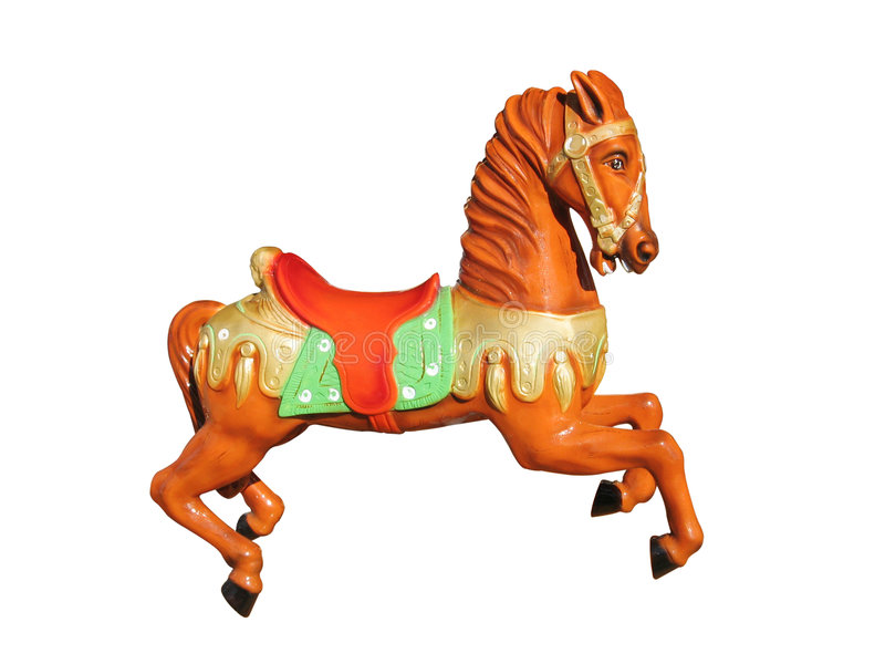 Cavallo dell'arancio del carosello fotografie stock libere da diritti