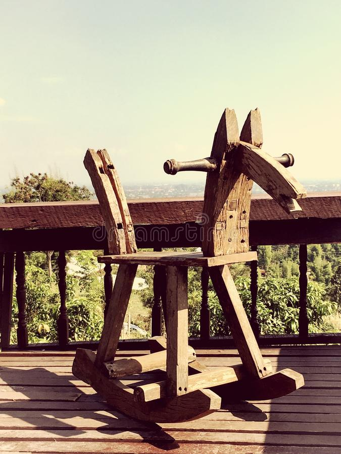 Cavallo di legno immagini stock libere da diritti