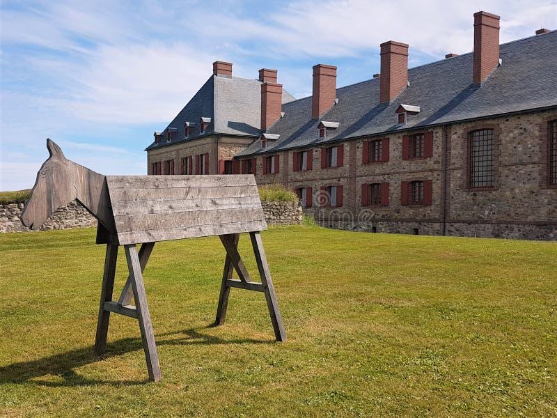 Cavallo di Louisbourg - bretone del capo - il Canada immagine stock
