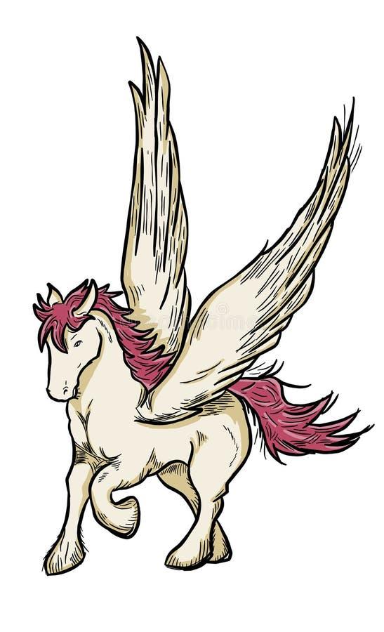 Cavallo di Pegaso alato volo royalty illustrazione gratis