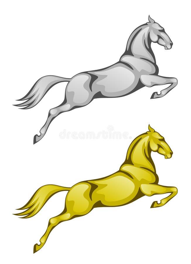Cavallo di salto royalty illustrazione gratis