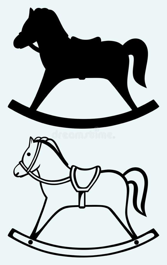 Cavallo a dondolo di legno royalty illustrazione gratis