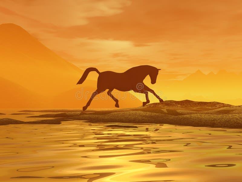 Cavallo dorato immagine stock libera da diritti