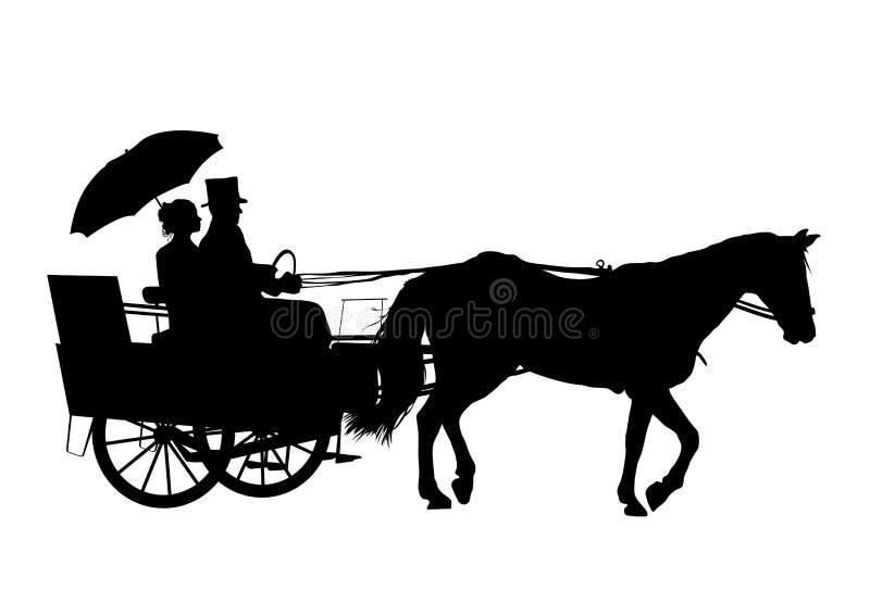 Cavallo e carrello 3 illustrazione di stock