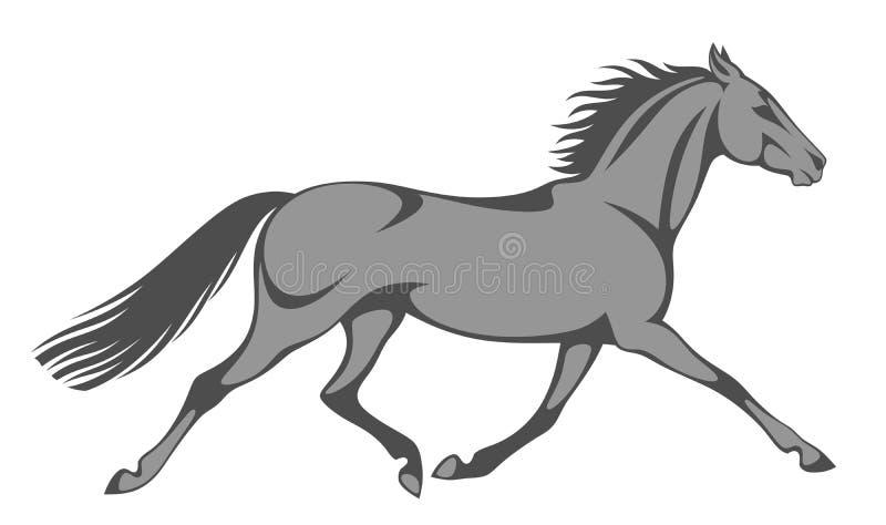 Cavallo grigio royalty illustrazione gratis