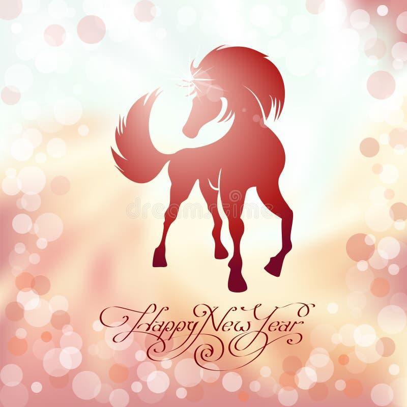 Cavallo rosso il simbolo del nuovo anno fotografia stock