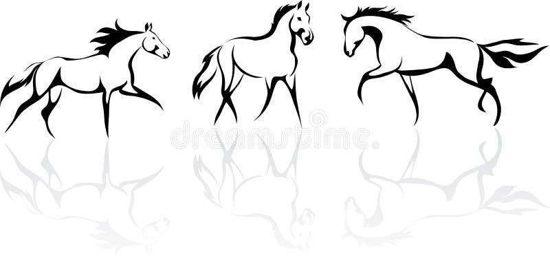 Cavallo Stilizzato Illustrazione Vettoriale Immagine Di