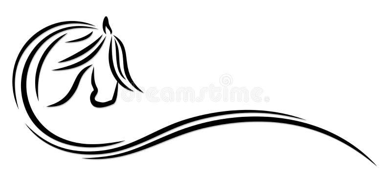 Cavallo stilizzato di logo royalty illustrazione gratis